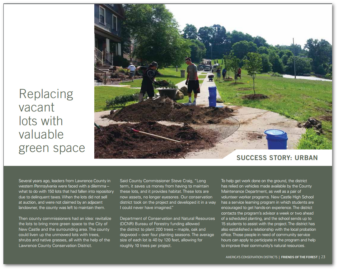 Lawrence County Conservation District Featured in NACD