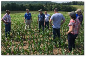 The annual PA Farm Bureau Tour stopped at the Brian Smith Farm. Photo provided by Wayne Conservation District.