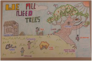 The 4th-6th grade winner in the state level poster contest was submitted by Sreekethav Vaka of Delaware County.