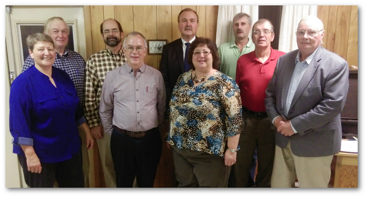 PACD Executive Director Brenda Shambaugh attended the 50th anniversary banquet and board meeting of the Blair County Conservation District on October, 20, 2016. Pictured left to right are: Donna Fisher, District Manager; John Morrow, Director; Commissioner Terry Tomassetti; Jim Biddle, Secretary/Treasurer; Blaine Smith, Vice-Chair; Shambaugh; Gary Long, Director; Alan Gearhart, Director; and Chairman Harold Bailey.