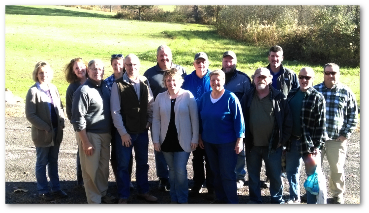 PACD Executive Director Brenda Shambaugh was invited to attend the south central region manager's meeting on October 31, 2016. The group met at Carl Goshorn's hunting camp in Huntingdon County. Several retired managers joined the group to catch up. Photo by Brenda Shambaugh.